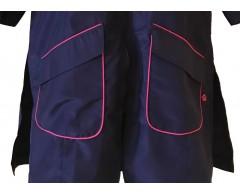 dettaglio tasche camice lungo blu