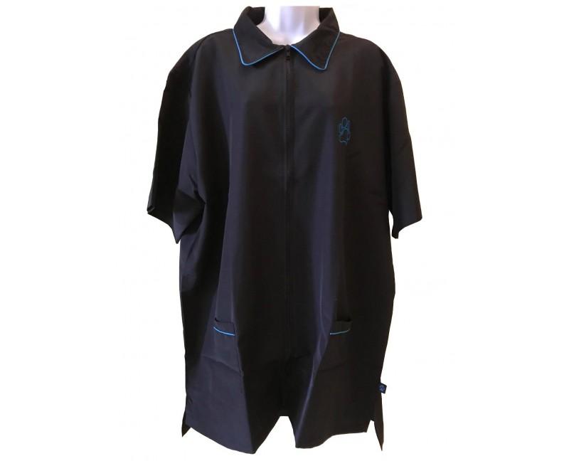 camice taglia comoda con rifinitura blu